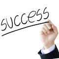 Hand write a success word Royalty Free Stock Photo