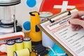 Ruka pohotovostní příprava zařízení seznam