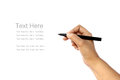 Hand writing some text in white background Royalty Free Stock Photo