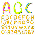 Hand writing stripes font Stock Image