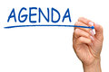 Hand writing word agenda Royalty Free Stock Photo