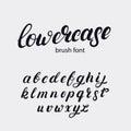Hand written lowercase alphabet.