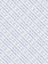 Hand Written Music Sheet On White Background. Light Kaleidoscope Pattern