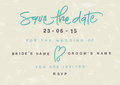 Hand written save the date eps vector file hi res jpeg included Stock Images