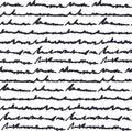 Hand written text pattern