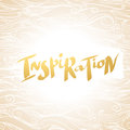 Hand written word Inspiration on background with wavy pattern.