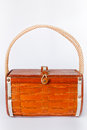 Handbag made ​​of wood Stock Images