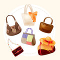 Handbags for all occasions set of Royalty Free Stock Photo
