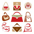 Handbags logo signs vector for the development of your design and promotional products Stock Photography