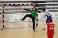 Handball action Royalty Free Stock Photo