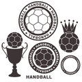 Handball set isolated objects on white background vector illustration eps Stock Photos