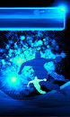Handball shot background space poster web leaflet magazine Royalty Free Stock Photos