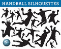 Handball silhouettes Stock Photo