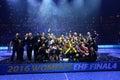 HANDBALL WOMEN EHF CHAMPIONS LEAGUE FINAL – GYORI AUDI ETO KC vs. CSM BUCURESTI Royalty Free Stock Photo