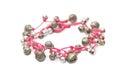 Handcraft beautiful bracelet isolate on white Royalty Free Stock Images