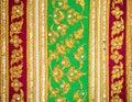 Handcraft silk in thai style vintage art Stock Photo