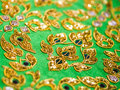 Handcraft silk in thai style vintage art shallow depth of field Royalty Free Stock Photos
