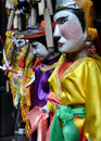 Handcrafted water puppets vietnamese Royalty Free Stock Photos