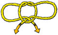 Handcuff Knot Royalty Free Stock Images