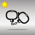 Handcuffs black Icon button logo symbol