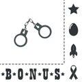 Handcuffs flat icon
