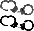 Handcuffs illustration web Stock Images