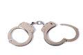 Handcuffs isolated on white background Stock Images
