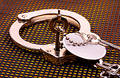 Handcuffs and Key Royalty Free Stock Photo