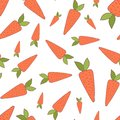 Handdrawn easter seamless pattern wit carrot