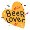 Handwritten lettering for oktoberfest. Good for poster, sticker or t-shirt print for october beer festifal. Beer lover fan phrase