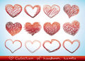 Handdrawn hearts Royalty Free Stock Image