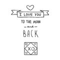 Handdrawn Valentines Day design elements Royalty Free Stock Photography