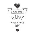 Handdrawn Valentines Day design elements Royalty Free Stock Images