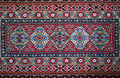Handemade slavic carpet old traditional wool with ancient motif Stock Photos