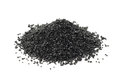 A handful of black silicon carbide powder Royalty Free Stock Photo
