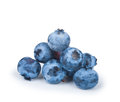 A handful of blueberries isolated on white background Royalty Free Stock Image
