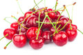 Handful of cherries Royalty Free Stock Photos