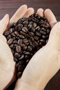 Handful coffee bean Stock Photography