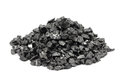 A handful of the fine fraction of coal Royalty Free Stock Photo