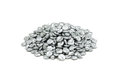 A handful of granular zinc on white background Royalty Free Stock Images