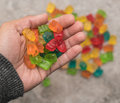 Handful of Gummy Bears Royalty Free Stock Photo