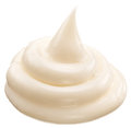 Handful of mayonnaise isolated on a white background Royalty Free Stock Images