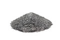 A handful of silver graphite powder Royalty Free Stock Photo