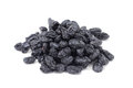 Handful of sweet raisins on a white background Royalty Free Stock Photos