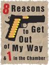 Handgun full of bullets Stock Image