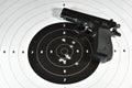 Handgun and shooting target Royalty Free Stock Photo