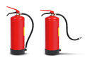 Handheld fire extinguisher ready set isolated on white Royalty Free Stock Photo