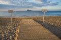 Handicap access to a beach the in benidorm costa blanca spain Stock Image