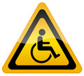 Handicap disabled sign Royalty Free Stock Photo