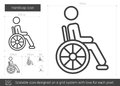 Handicap line icon.